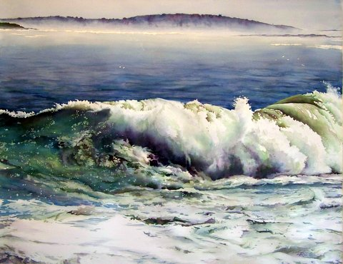 Gulf of Maine - 27 in x 38 in Watercolor